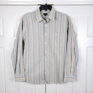 J CREW- Long Sleeve Button Front Shirt-Mens Sz L
